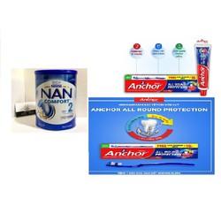 [GIÁ SIÊU ƯU ĐÃI] Sữa Nan Com fort Úc 800g số 2 (Từ 6 đến 12 tháng tuổi) Bổ sung hệ lợi khuẩn giúp chống táo bón dành cho trẻ tặng sét bàn chảy+kem đánh răng anchor 100g