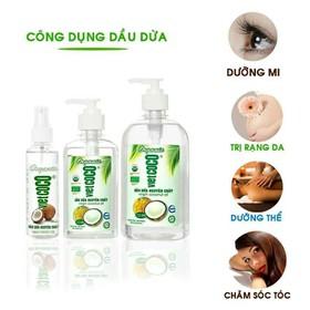 Dầu dừa nguyên chất Organic Vietcoco chai 130,250,500ml - dầu dừa vòi
