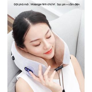 Gối Massage Cổ Vai Gáy Chữ U - Gối ngủ văn phòng, gối massage trị liệu, gối mát xa cổ cao cấp Uhaped - BH 1 đổi 1 toàn quốc - Masage_U thumbnail