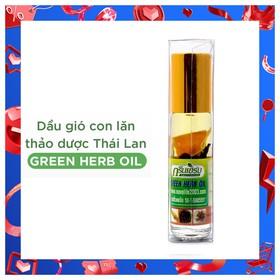 Dầu lăn thảo mộc nhân sâm Green Herb Oil 8ml Thái Lan giúp thông mũi xoa bóp massage thư giãn - DauThaoMoc_Thai
