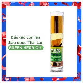 Dầu lăn thảo mộc nhân sâm Green Herb Oil 8ml Thái Lan giúp thông mũi xoa bóp massage thư giãn - DauThaoMoc_Thai thumbnail