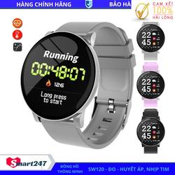 Đồng hồ thông minh, Smart Watch SW120, Mặt tròn, Đo Huyết Áp, Xem Nhịp Tim, Theo Dõi Giấc Ngủ, Màn Hình Nhạy Lắc Tay Sáng, Vòng Tay Sức Khỏe Đa Chức Năng Smart247