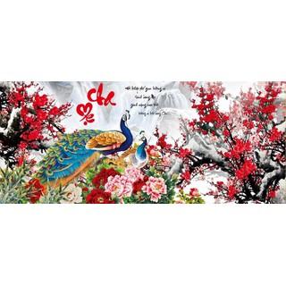 Tranh đính đá cha mẹ công hoa đào VS060 - VS060 thumbnail
