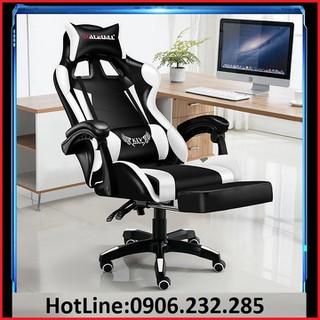 Ghế game bọc da cao cấp , đệm cao su , gác chân KLW-919+Đèn led+loa bluetooth - Ghế xoay văn phòng - Ghế văn phòng ngả lưng duỗi chân cao cấp - Ghế văn phòng bọc da thumbnail