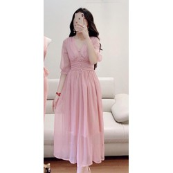 Đầm voan chiffon 2 lớp 40-60kg