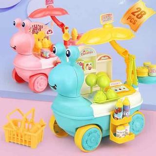 Đồ chơi cho bé [FREESHIP EXTRA] Quầy kem đồ chơi di động cho bé trai bé gái, đồ chơi an toàn, đồ chơi vui vẻ - ĐCK thumbnail