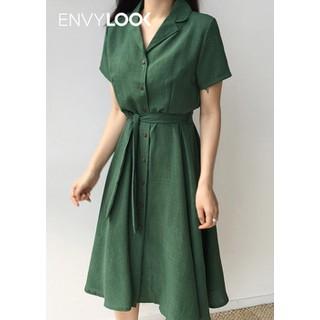 Đầm Sơ Mi Đính Cúc Thắt Eo Eco - P00000OR thumbnail