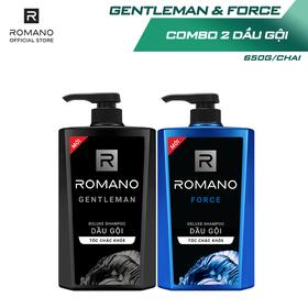 Combo Dầu gội Romano Gentleman 650gr và Dầu gội Force 650gr - CB01WP100182_1