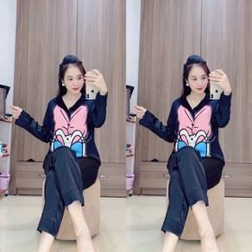 ĐỒ BỘ LỤA CAO CẤP-bộ đồ mẹ bầu mặc sau sinh cực thời trang - yu845