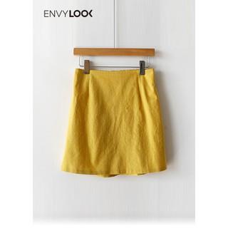 Chân Váy Cơ Bản Vải Lanh - P00000LU thumbnail