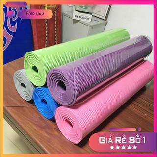 Thảm tập Yoga 2 lớp TPE dày 6mm, thảm tập Gym chống trơn trượt và không thấm mồ hôi - TYOG2M-1 thumbnail