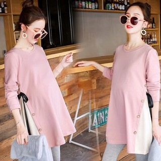 áo bầu xinh suông a thời trang điệu đà-free size 42-70kg - yu84 thumbnail