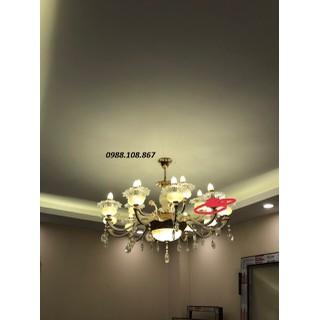 Đèn chùm - đèn chùm pha lê bông hoa 15 tay - ĐC-PL15T thumbnail