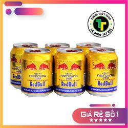 Combo 06 lon - Nước tăng lực bò cụng Redbull chính hiệu nhập khẩu từ Thái Lan loại 250ml