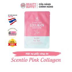 Mặt nạ giấy dưỡng sáng và trẻ hóa da Scentio Pink Collagen (1 miếng)