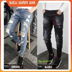 Quần Jogger nam jeans co giãn [kiểu bo lai] JN351