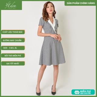Đầm Công Sở Thời Trang Eden Caro Cổ Vest - D339 - D339 thumbnail