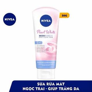 Sữa Rửa Mặt Sạch Sâu và Dưỡng Trắng Nivea White 50g mẫu mới - SRM120 thumbnail