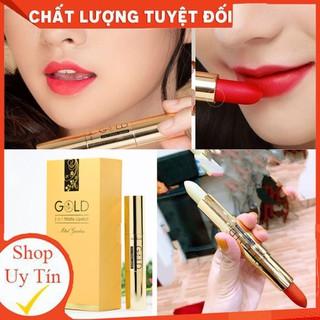 Son nhung lì pha dưỡng GOLD ĐỎ DÂU MINIGARDEN lên màu chuẩn, bền màu, lâu trôi không gây khô, thâm môi - Gold02 thumbnail