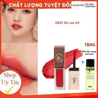 Son Kem Lì Roses R02 ĐỎ SAN HÔ TẶNG tẩy trang môi - R2DSHO thumbnail