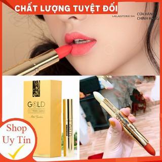 Son nhung lì pha dưỡng GOLD HỒNG ĐÀO MINIGARDEN lên màu chuẩn, bền màu, lâu trôi không gây khô, thâm môi - Hongdaogold thumbnail