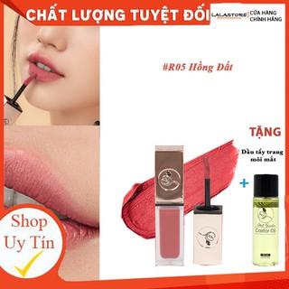 Son Kem Lì Roses R5 HỒNG ĐẤT TẶNG tẩy trang môi - R5HONGD thumbnail