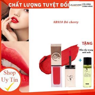 Son Kem Lì Roses R10 ĐỎ CHERRY tặng tẩy trang môi - R10 thumbnail