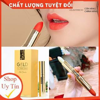 Son nhung lì pha dưỡng GOLD ĐỎ CAM MINIGARDEN lên màu chuẩn, bền màu, lâu trôi không gây khô, thâm môi - docamgold thumbnail
