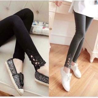 quần bầu thời trang-quần bầu chân ren có chun điều chỉnh theo bụng - t70 thumbnail