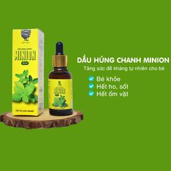 Tinh dầu húng chanh Minion 30ml. Hỗ trợ ho, tăng đề kháng hệ miễn dịch