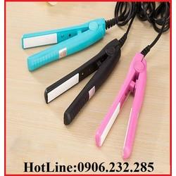 Máy duỗi tóc thẳng chính hãng Kemei mini bản kẹp phủ sứ loại tốt KP40122