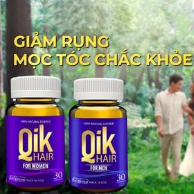 Qik Hair For Men - Ngăn Ngừa Tình Trạng Rụng Tóc, Hói Đầu – Hộp 30 viên - QIKHFM30-6