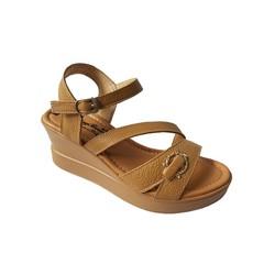 Giày Sandal Nữ Đế Xuồng BIGGBEN Da Bò Thật SĐX39