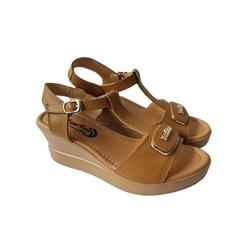 Giày Sandal Nữ Đế Xuồng BIGGBEN Da Bò Thật SĐX40
