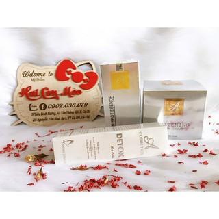 Combo Serum+Detox+Kem Face Pháp Dưỡng trắng da, ngăn ngừa mụn, thâm, nám, tàn nhang - v1244 thumbnail