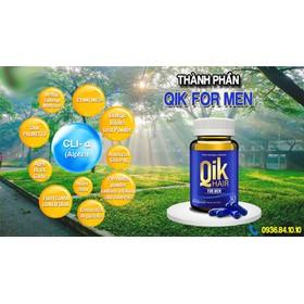 Qik Hair For Men - Ngăn Ngừa Tình Trạng Rụng Tóc, Hói Đầu – Hộp 30 viên - QIKHFM30-5