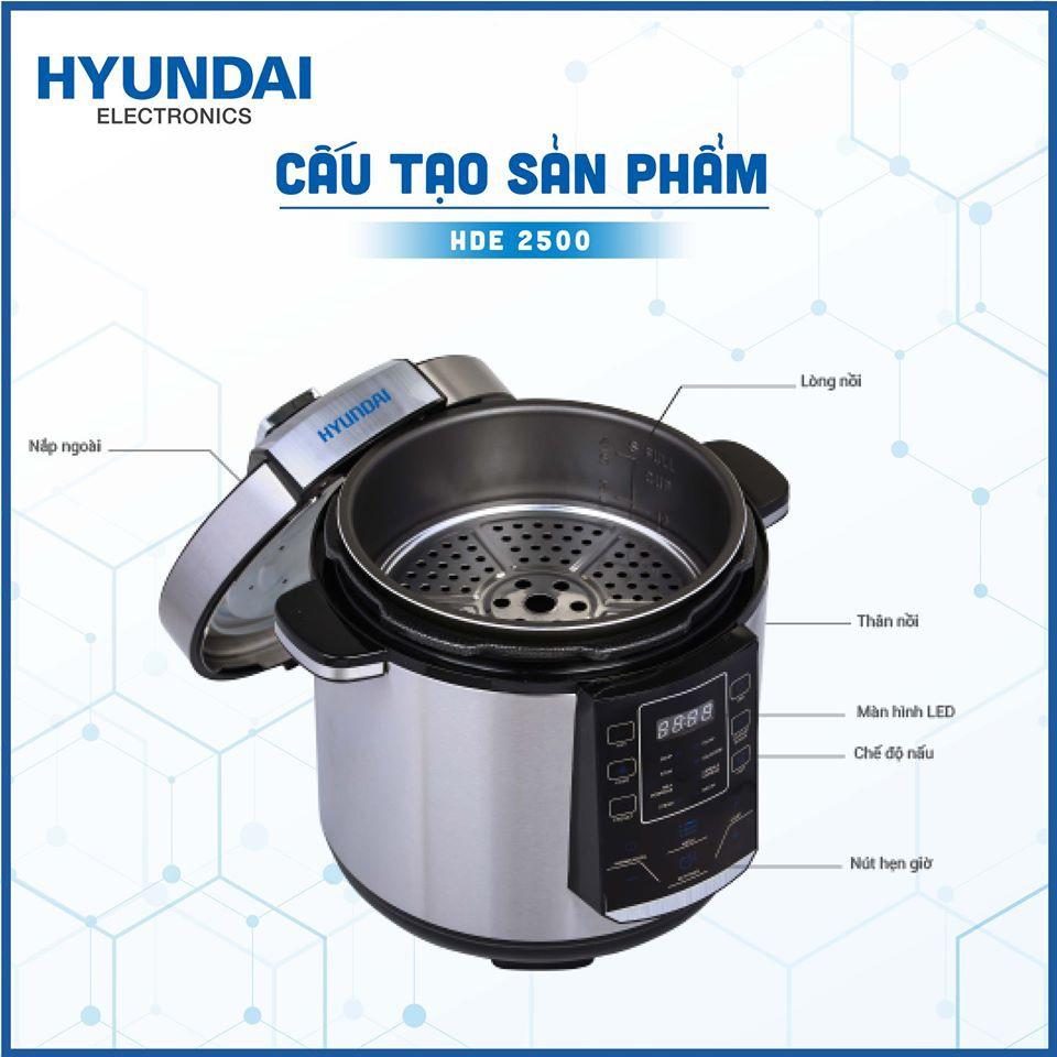 Nồi Áp Suất Điện Tử Hyundai Hde 2500S Dung Tích 1,8 Lít - Bảo hành chính hãng 12 tháng - 6047803816 2