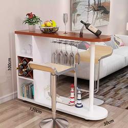 Quầy bar mini hiện đại, có kèm ô để vang và khay để ly đế cao trang trí phòng ăn, phòng bếp BAH045