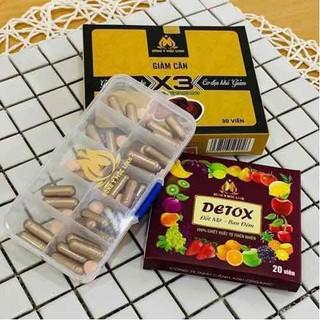 Giảm cân X3 đông y mộc linh tặng detox đốt mỡ - giảm cân đông y thumbnail