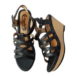 Giày Sandal Nữ Đế Xuồng BIGGBEN Da Bò Thật SĐX38
