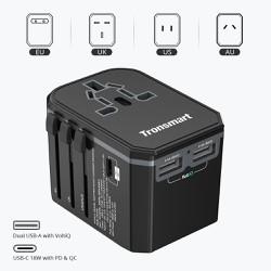 Bộ sạc củ sạc cốc sạc chuyển đổi đa năng 33W với sạc nhanh USB-C PD 3.0 cho điện thoại máy tính bảng Tronsmart WCP05