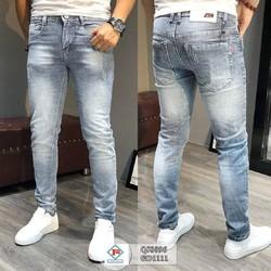 Quần jean nam trơn màu xanh nhạt shop Phú Qúy
