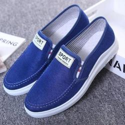 Giày mọi, giày lười - giày mọi thể thao vải jean thời trang Hàn Quốc 2020 mẫu mới đế nhẹ