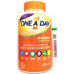 Vitamin tổng hợp One a day women's chai 200 viên cho nữ hãng Bayer từ Mỹ, sức khỏe nữ