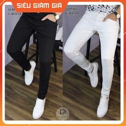 Quần jeans nam đen - trắng co giãn nhiều JCG11