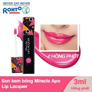 Son kem bóng Miracle Apo Lip Lacquer 3ml - Màu Hồng Phớt - 8935006536173 thumbnail