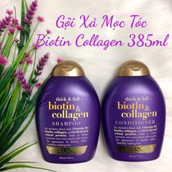Dầu Gội, Dầu Xả mọc tóc giảm rụng OGX Biotin Collagen 385ml