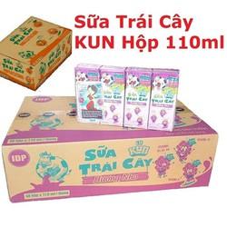 Thùng 24 hộp sữa trái cây Kun công  nghệ Nhật bản [hộp 110ml ]