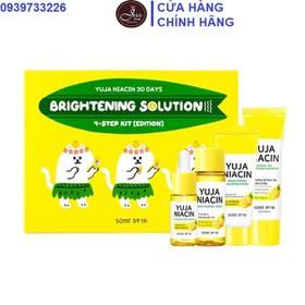 Bộ Kit 4 Món Dưỡng Trắng Sáng Da Và Mờ Thâm Nám Some By Mi Yuja Niacin 30 Days Brightening Solution - Edition - Bộ kit 4 Yuja Edition