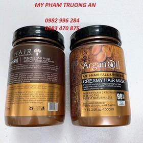 Kem Ủ hấp tóc Phục Hồi Argan Oil Creamy Hair Mask 1000ml và mũ nilon - A-1000